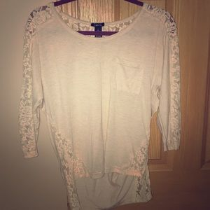 3/4 Lacey Top